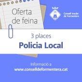 Abierta la convocatoria de plazas de Policía Local en Formentera
