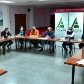 Comité ejecutivo de Asaja de Cuenca, este viernes en la sede de la capital