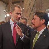 Felipe VI y Luis Barcala en su último encuentro