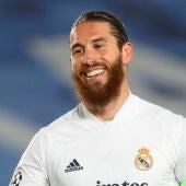 Sergio Ramos, durante un partido del Real Madrid