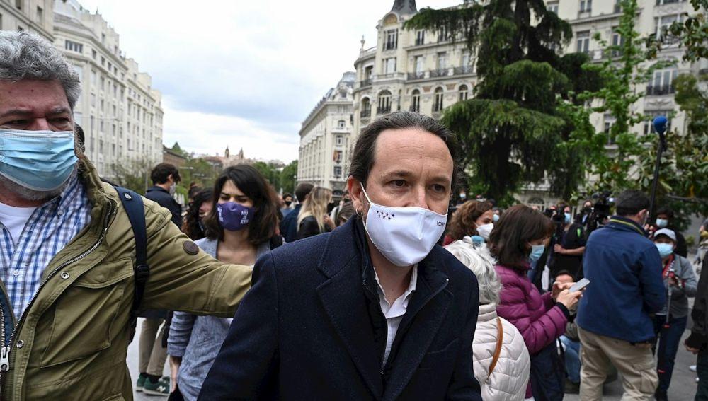 Pablo Iglesias, candidato de Unidas Podemos en la Comunidad de Madrid