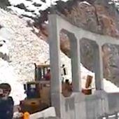 Zona de las obras afectada por un alud, este invierno