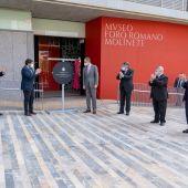 El Rey Felipe VI inaugurando el Museo Foro Romano
