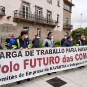 Concentración de trabajadores de Navantia