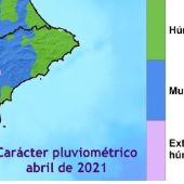 Abril fue muy lluvioso en la provincia de Alicante