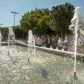 Vista de la fuente de la Plaza del Progreso
