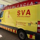 Ambulancia de Soporte Vital Avanzado en la pedanía de El Altet de Elche.
