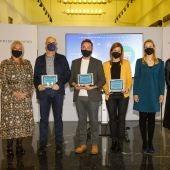 Foto de familia de los Premios del Colegio de Periodistas