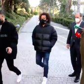 Marcelo llegando al colegio electoral