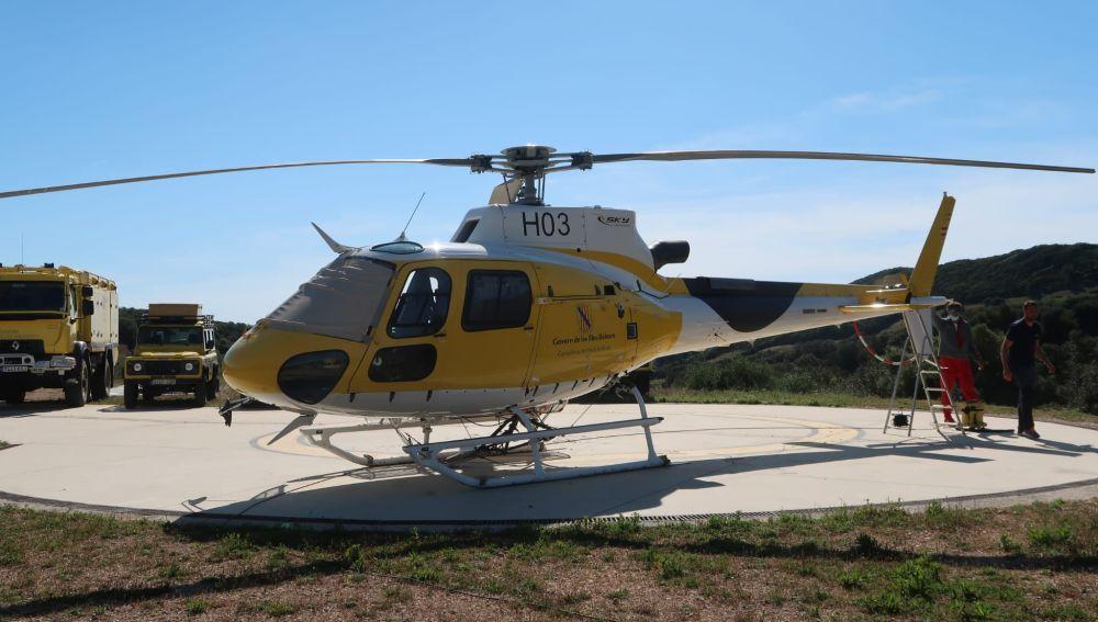 Menorca dispone de un helicóptero en el marco del contingente de prevención.