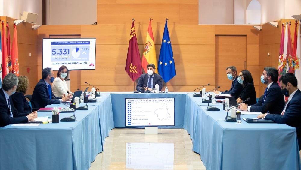 El Gobierno regional aprueba el Presupuesto de 2021 que asciende a 5.331 millones de euros