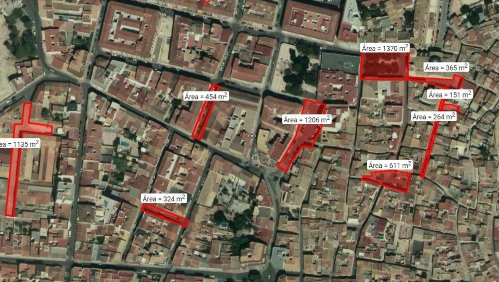 Refugios antiaéreos de los que hay testimonio en Petrer.