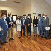 Los representantes del Ministerio de Trabajo se han reunido hoy con representantes del tejido social turolense