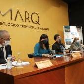La diputada Julia Parra con José Alberto Cortés, Manuel Olcina y Jorge Soler