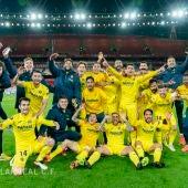 El Villarreal celebra su pase a la final