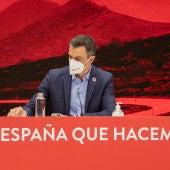Pedro Sánchez, durante la Ejecutiva del PSOE