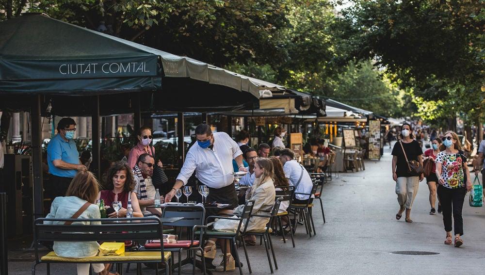 Una terraza en Barcelona