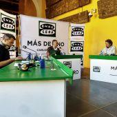 El equipo de La Cultureta desde el Patio de los Naranjos de Córdoba