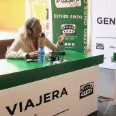Isabel Albás, primera teniente de alcalde y responsable de Turismo del ayuntamiento de Córdoba, con Esther Eiros en Gente Viajera