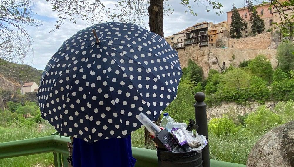Jornada lluviosa en la ciudad de Cuenca este domingo, el primer día tras el fin del estado de alarma
