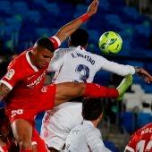 La mano de Militao que ha pitado el colegiado en el penalti a favor del Sevilla.