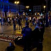 La Puerta del Sol, en Madrid, minutos después del fin del estado de alarma.