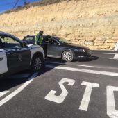 La Guardia Civil en un control de carreteras