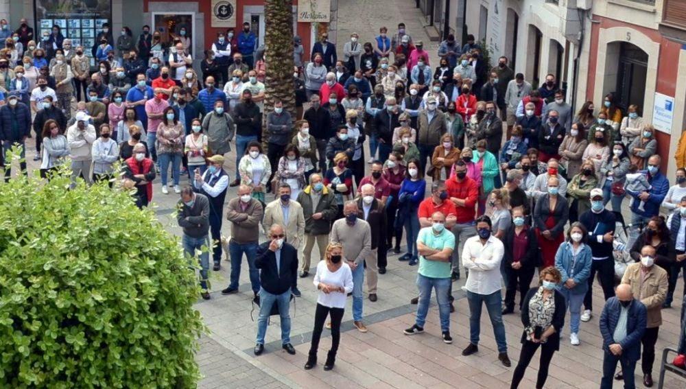 Concentración de protesta en Llanes