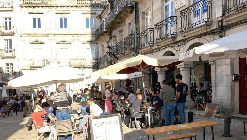 Terraza plaza de la Constitución en Vigo