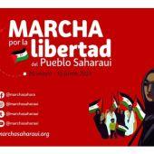 Marcha por la libertad del pueblo saharaui.