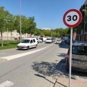 Als carrers d'un sol carril per sentit no es podrà circular a més de 30 km/h