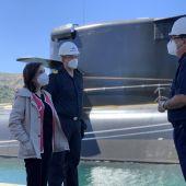 Ministra de Defensa, Margarita Robles, visita S-80 Isaac Peral