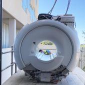 Pieza de la nueva resonancia magnética adquirida por el Hospital del Vinalopó de Elche.