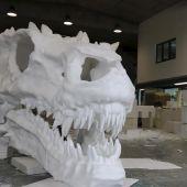 Con Huesca propone la instalación de dos calaveras de dragón como reclamo turístico