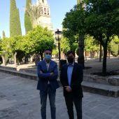 Carlos Roca con Agustín Jurado