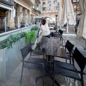Una terraza en Pamplona, Navarra