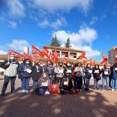 Manifestación en Los Invasores contra el convenio del sector de la limpieza en Albacete