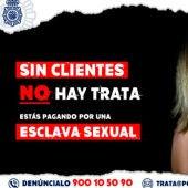 Cartel de la Policía Nacional en contra de la trata de personas