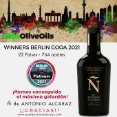 Aceite Ñ de Antonio Alcaraz premio Platinum en Berlín.