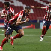 Correa celebra su gol ante la Real
