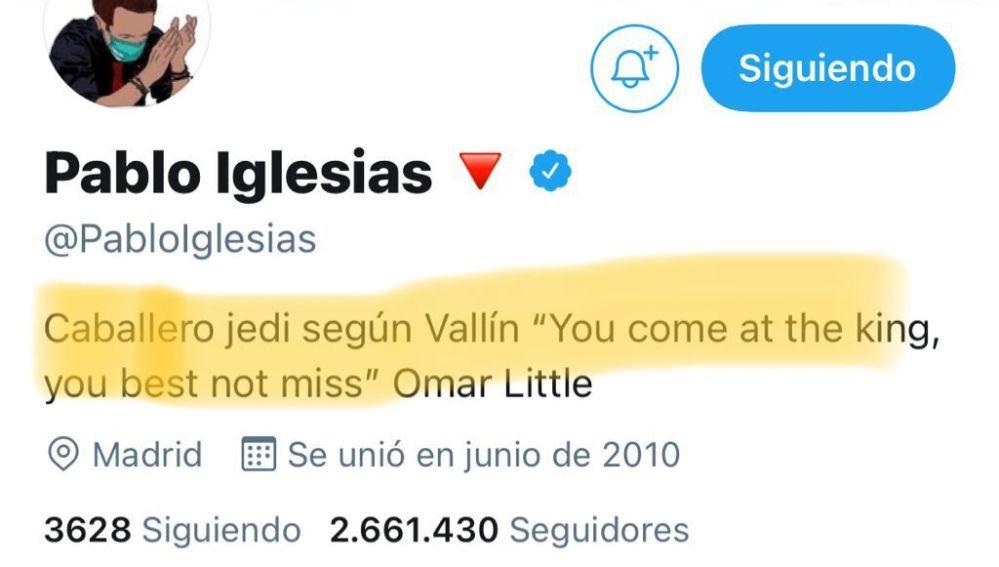 Twitter de Pablo Iglesias