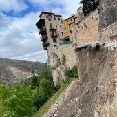 Derrumbe del principal acceso a las Casas Colgadas de Cuenca el pasado 12 de mayo