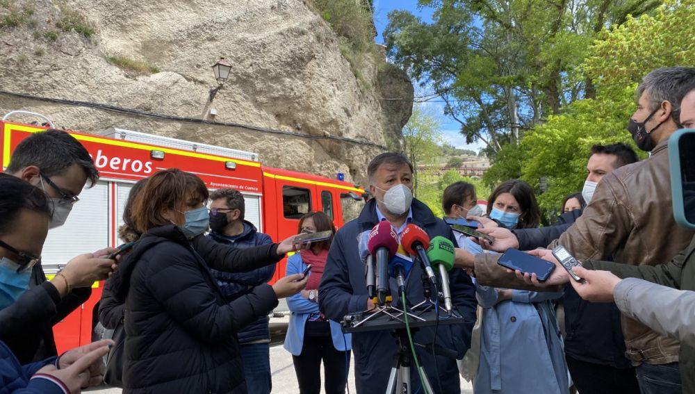 El alcalde de Cuenca, Darío Dolz, confirma el cierre de todos los accesos a la zona