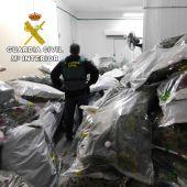 El edificio registrado tenía capacidad para almacenar 10.000 kilos de marihuana