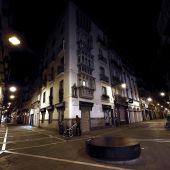 Calle Zapatería con Pozoblanco, en el casco Viejo de Pamplona