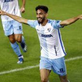 Juande Rivas, jugador del Málaga CF
