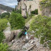 Derrumbe del muro de la calle Canónigos