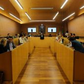 El Salón de Plenos de El Puerto, en una foto de archivo