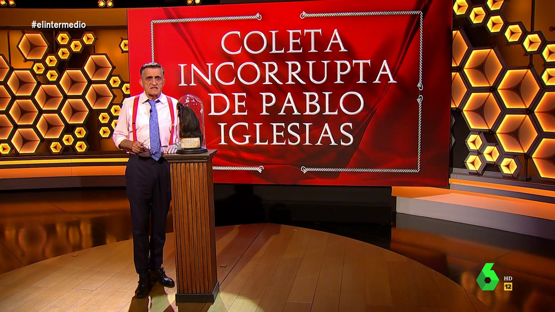 La tele con Monegal: La 'coleta incorrupta' de Iglesias en El Intermedio