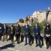 Junta y Diputación han arropado este jueves al alcalde de Cuenca